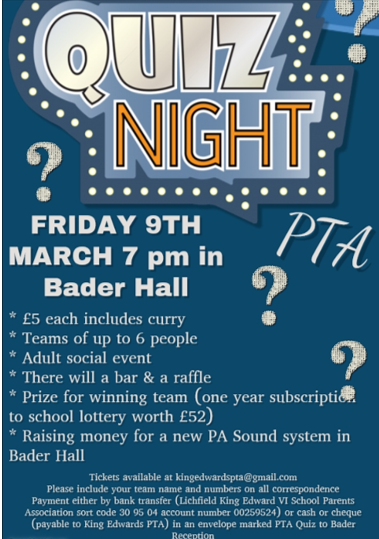 Quiz night poster 1