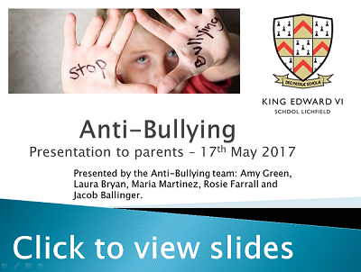 Anti-Bullying presentation info slides