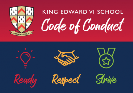 Code of Conduct - School Logo and Ready Respect Strive medium
