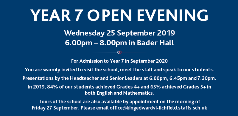 Open Evening Information 2019